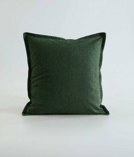 MM Linen - Stitch Cushion - Cypress