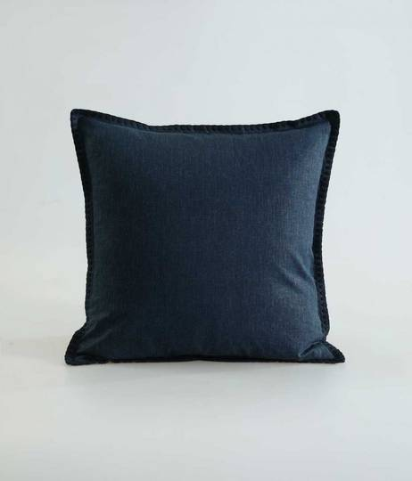 MM Linen - Stitch Cushion - Navy