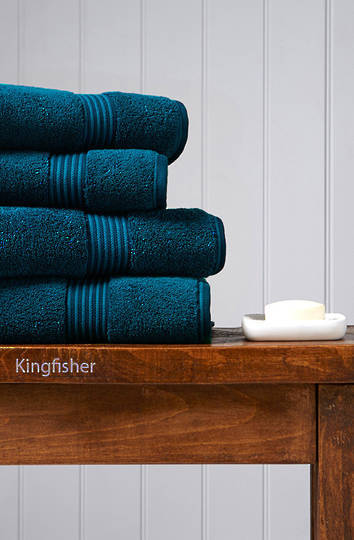 Seneca - Christy Supreme Hygro Towels, Hand Towels & Face Cloths - Kingfisher