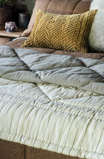 Bianca Lorenne - Tessere Natural Comforter / Eurocase Sold Separately