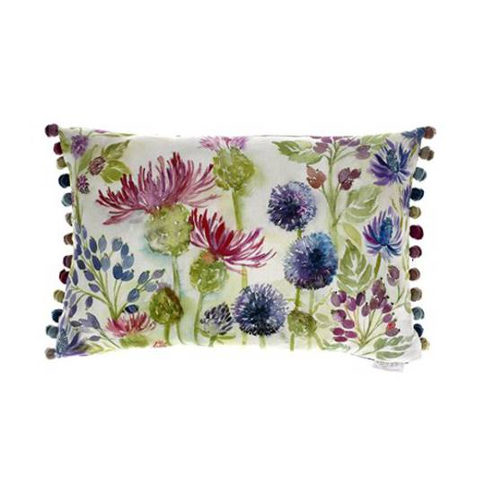 Voyage Maison - Thistles Cushion - White