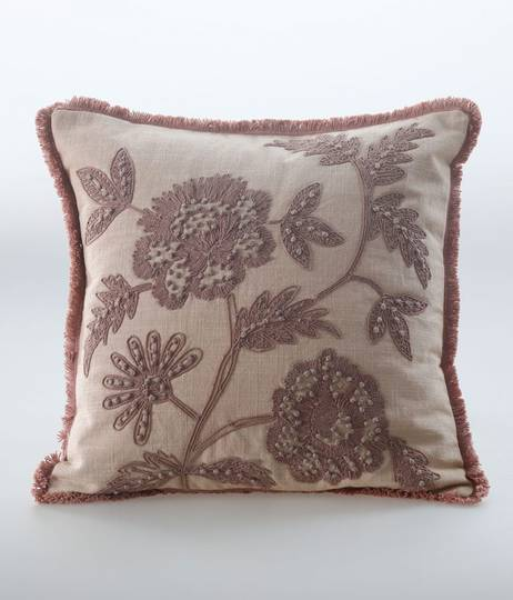 MM Linen - Trixie Cushion - Woodrose
