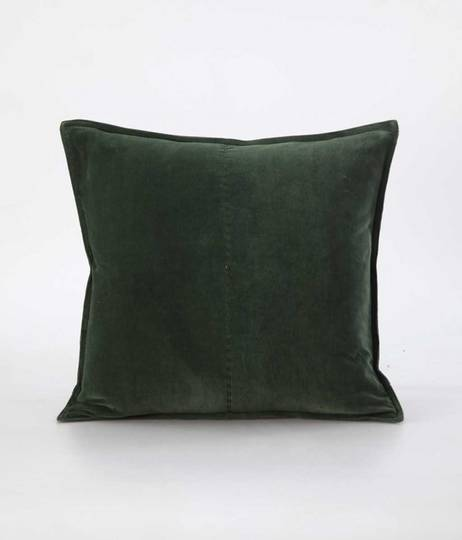 MM Linen - Velvet Cushion - Forest