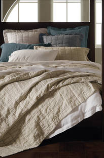 Sheridan Abbotson Flax Linen Quilted Bedspread / Pillowcases Sold Separately