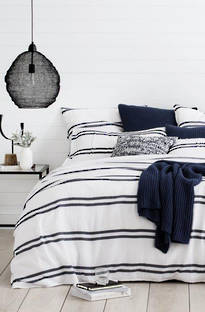 Sheridan Allbany Midnight Duvet Cover Set / Eurocase Sold Separately