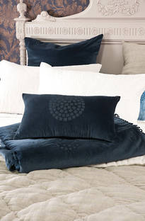 Bianca Lorenne Aldo Indigo Cushion and Euro