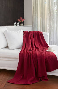 Baksana - Bergamo Lambswool Blanket/Throw Mulberry