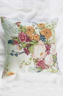Bianca Lorenne Bouquet Duck Egg Cushion