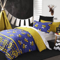 Logan & Mason Buzz Purple Duvet Cover Set