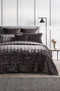 Sheridan Canfield Charcoal Bedspread & Cushions