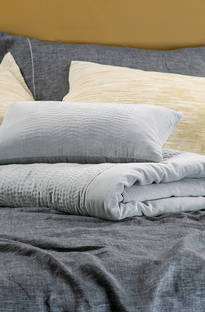 Bianca Lorenne - Elba Silver Comforter/Euros and Cushion Sold Separately