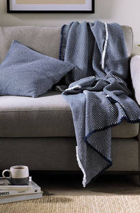 Sheridan Ellyson Washed Indigo Throw & Cushions
