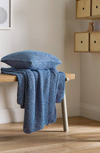 Sheridan Essery Cobalt Throw & Cushion