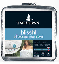 Fairydown Blissfil All Seasons Wool Duvet Inner