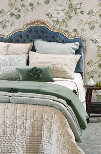 Bianca Lorenne Finola French Grey Bedspread / Pillowcases - Sold Separately