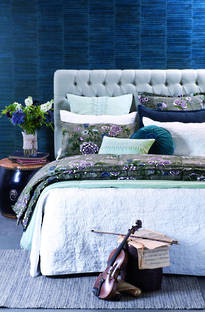 Bianca Lorenne Fontene White Bedspread / Pillowcases - Sold Separately