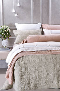 Bianca Lorenne Fontene French Grey  Bedspread / Pillowcases - Sold Separately