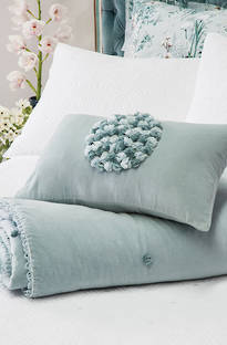 Bianca Lorenne Greta Powder Blue Comforter & Cushion