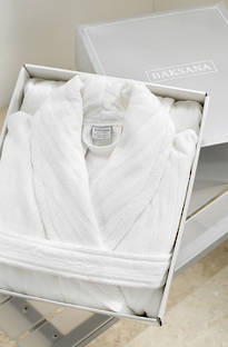 Baksana - Luxury Unisex Hotel Robe - White