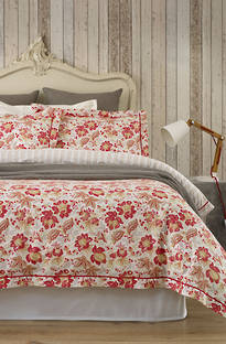 Baksana - Coral Flower Duvet Cover Set