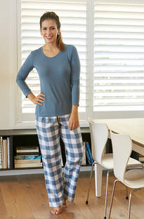 Baksana - Mia Casual PJ Set with Knit Top