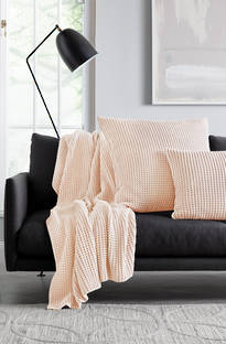 Sheridan Haden Peach Throw & Cushions