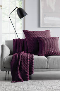 Sheridan Haden Plum Throw & Cushions