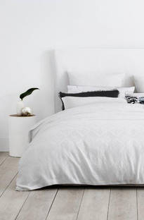 Sheridan Hodges White Duvet Cover Set / Eurocase Sold Separately