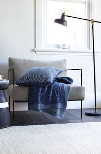 Sheridan Knollman Washed Indigo Throw & Cushions