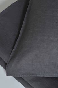 MM Linen - Laundered Linen Charcoal Duvet Cover Set