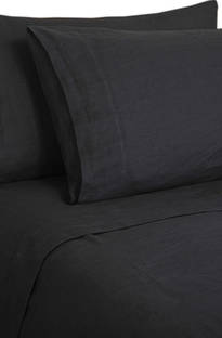 MM Linen Laundered Linen Charcoal Sheet Set