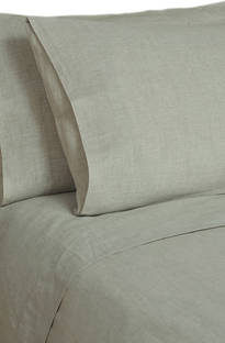 MM Linen Laundered Linen Natural Sheet Set/Pillowcases Sold Separately