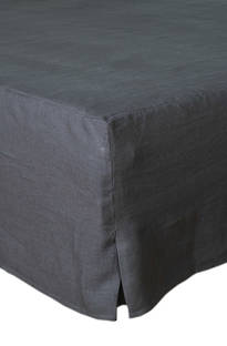 MM Linen Charcoal Laundered Linen Valance