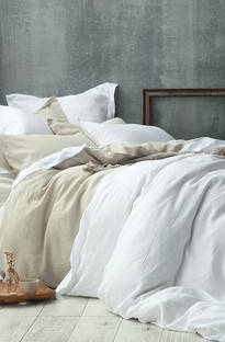 MM Linen - Laundered Linen Natural Duvet Cover Set