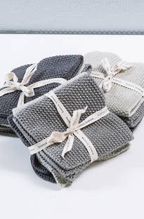 Bianca Lorenne Lavette Grey Dish Cloth Set
