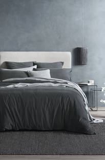 Sheridan Lewiston Ash Grey Duvet Cover Set