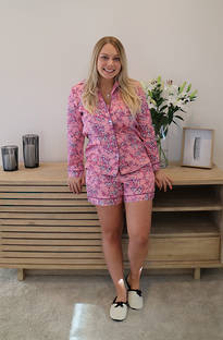 Baksana Lotte Classic PJ Set with Shorts