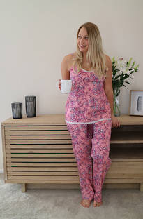 Baksana Lotte Strappy PJ Set with Long Pants