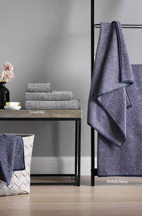 Sheridan Luxury Marl British Navy Towels