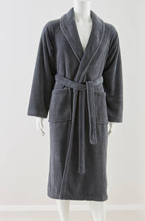 Baksana - Men's Manor Gunmetal Supersoft Robe