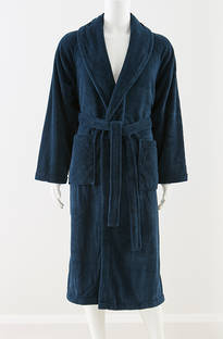 Baksana - Men's Manor Navy Supersoft Robe