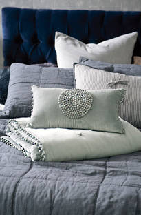 Bianca Lorenne Mara Mist Comforter and Cushion