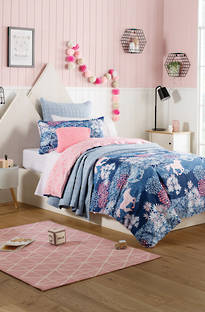 Sheridan Meadows Indigo Duvet Cover Set