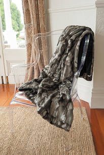 Faux Fur Throw   -     Mottled Squirrel