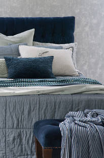 Bianca Lorenne Noma Denim Bedspread / Pillowcases - Sold Separately