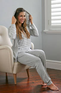 Baksana - Nora Foggy Grey Knit PJ Set