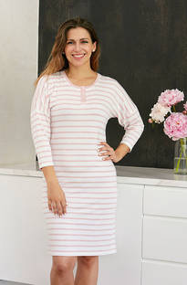 Baksana - Nora Primrose Stripey Knit Nightie