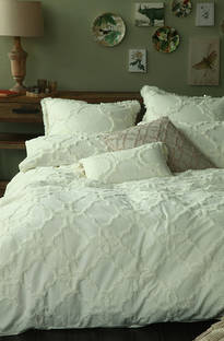 MM Linen - Clover Ivory Duvet Cover Set