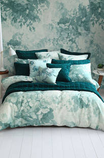 MM Linen - Provence Duckegg Duvet Cover Set / Euro Pillowcase Set