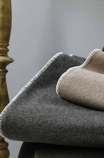MM Linen Wellshead Blanket - Charcoal